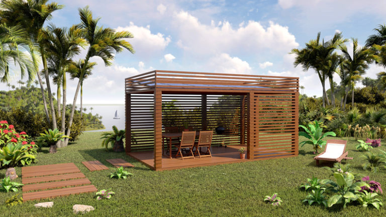 Pergola prisma version Antilles