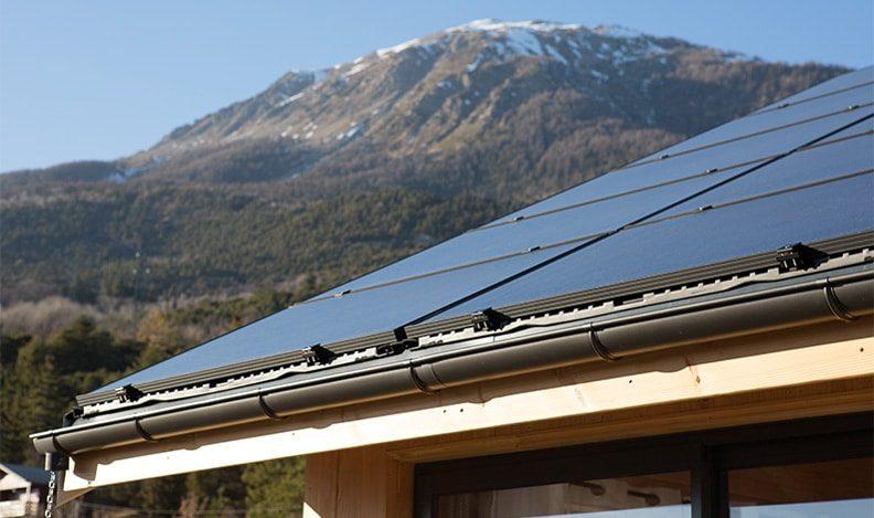 Détail panneaux solaires